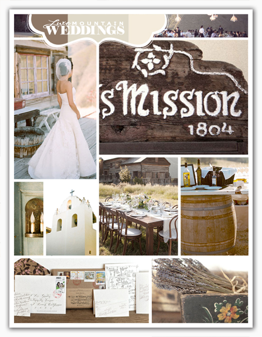 Rustic browns and creamy white combine with light touches of pink and