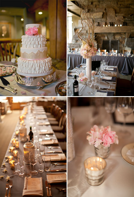 Big Sky weddings, pink details