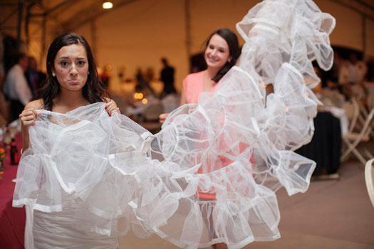 wedding dress ripped