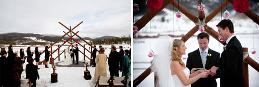 A Winter Ceremony at Devils Thumb Ranch, Colorado