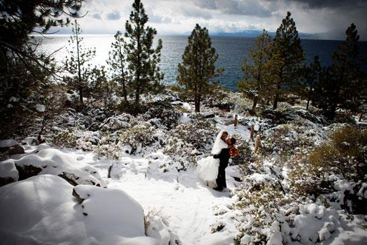 A Winter Destination Wedding at Lake Tahoe