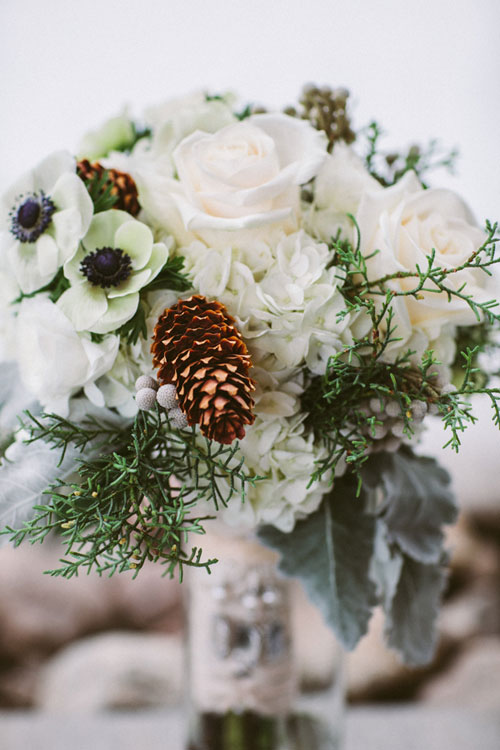 Mountain wedding flowers