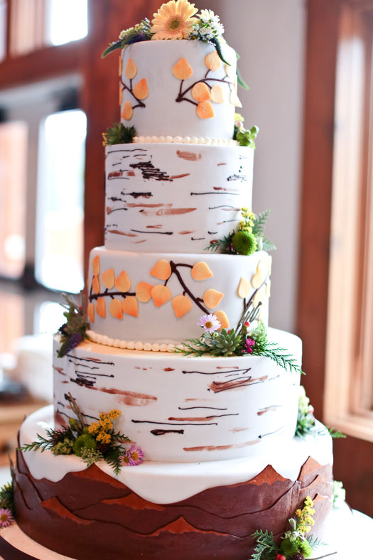 Mountain wedding cake