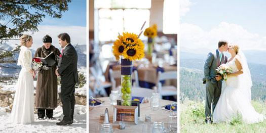 Mountain wedding, Breckenridge, Edwards, Grand Lake Colorado