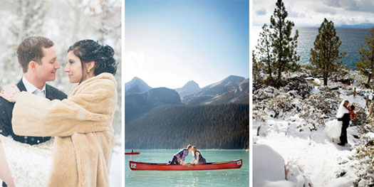 Lake Louise, Jackson Hole, Lake Tahoe weddings