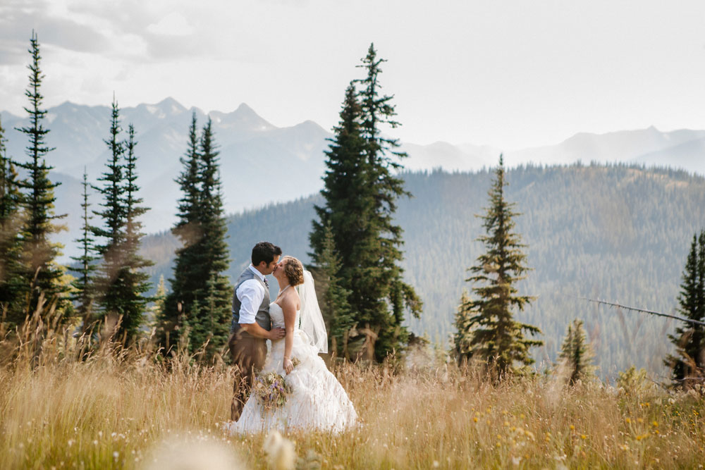 Weddng in the Cascade Mountains, Manning Park Resort