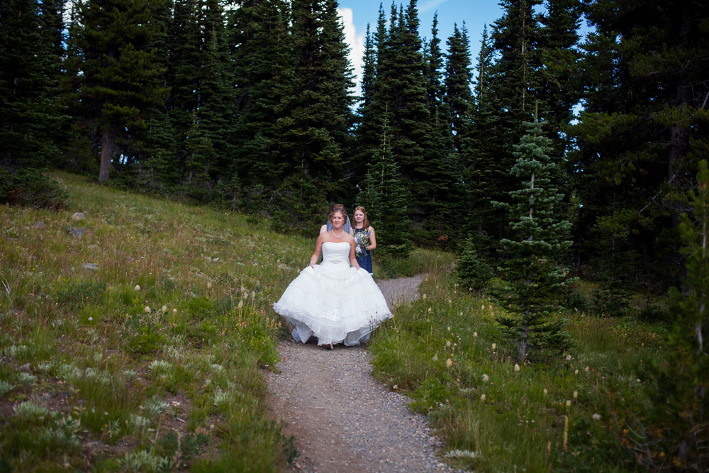 Weddng in the Cascade Mountains, Manning Park Resort, Canada
