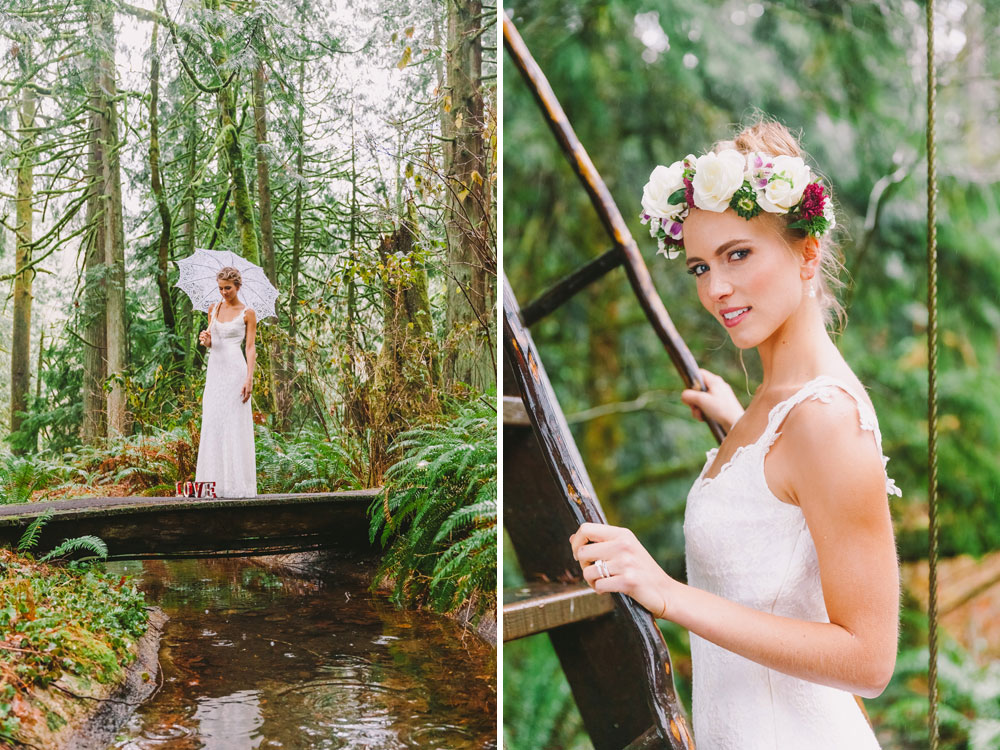 A Treehouse Wedding in the Forest in Washington