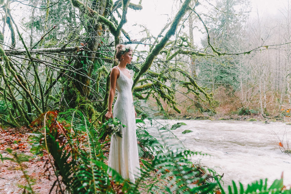 A Treehouse Wedding Shoot in the Forest, Washington