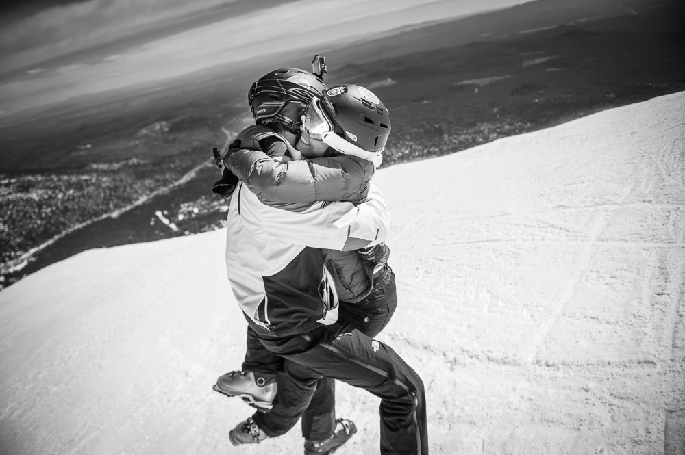 A Mountaintop Wedding Proposal on Mt. Bachelorin, Bend Oregon