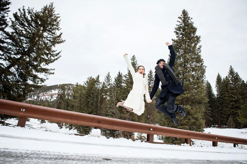 An Intimate Pajama Ceremony in Big Sky, Montana