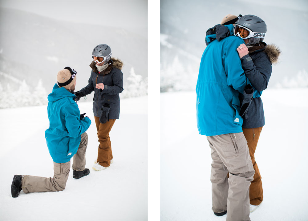 Ski Resort Snowboarding Proposal on a Mountaintop