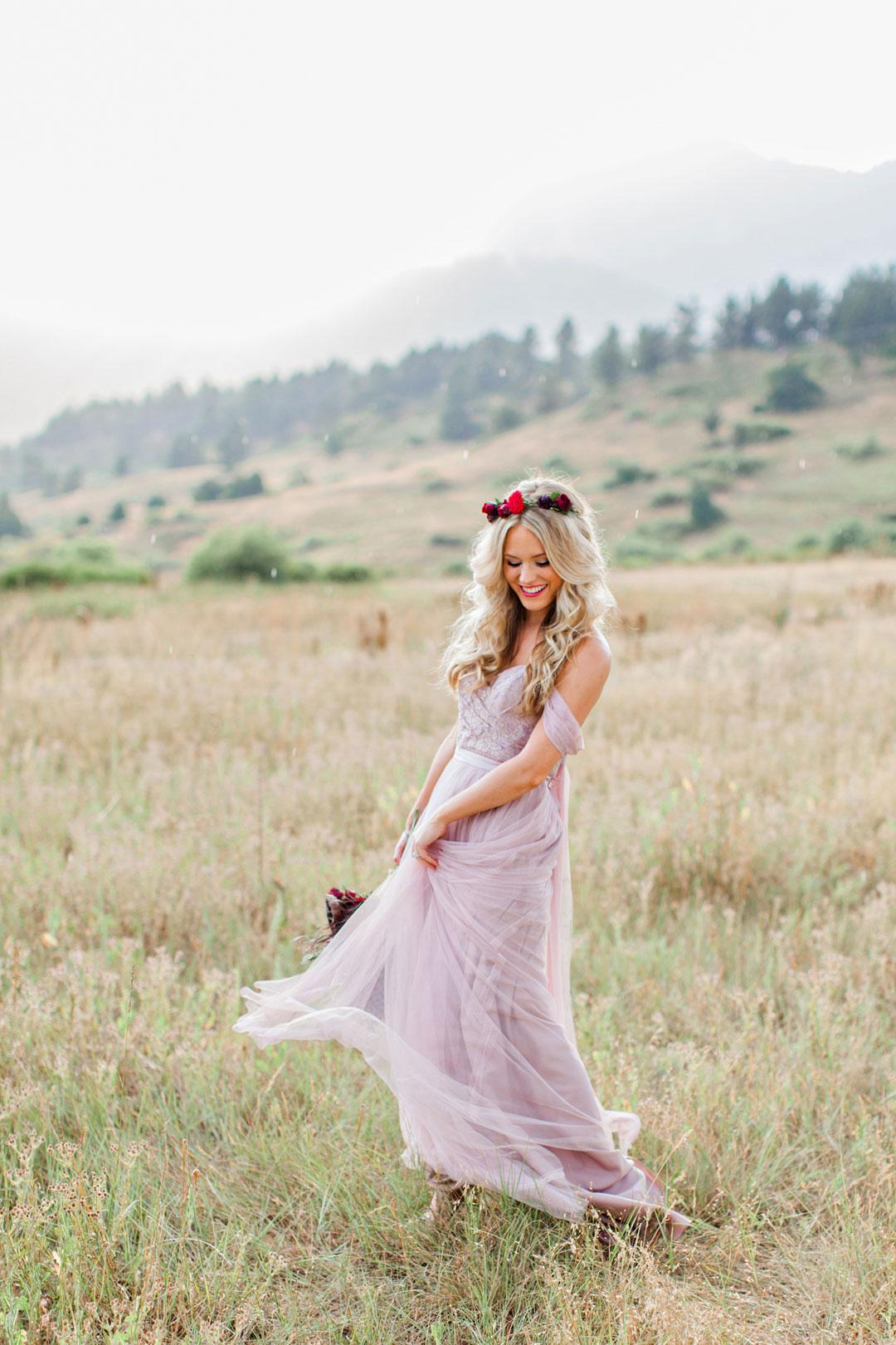 Romantic Bohemian Elopement in Boulder