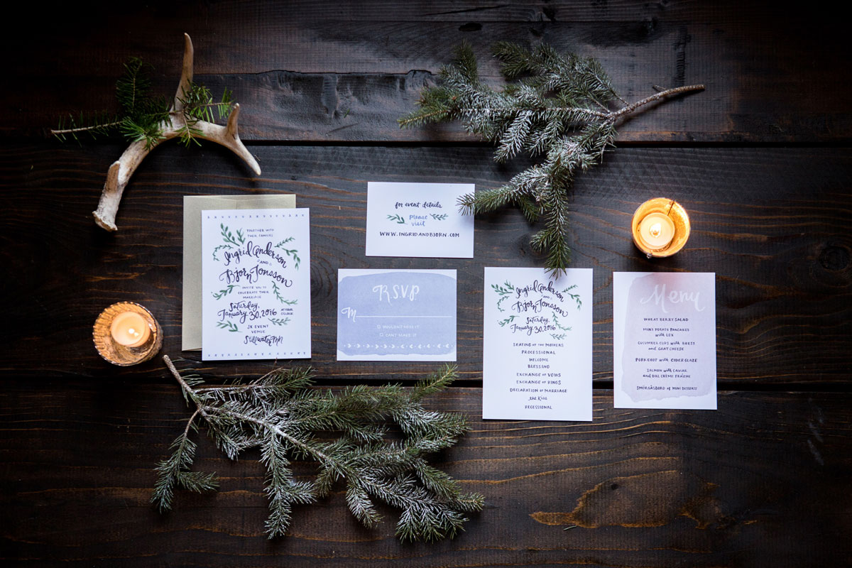 A Nordic Winter Styled Shoot
