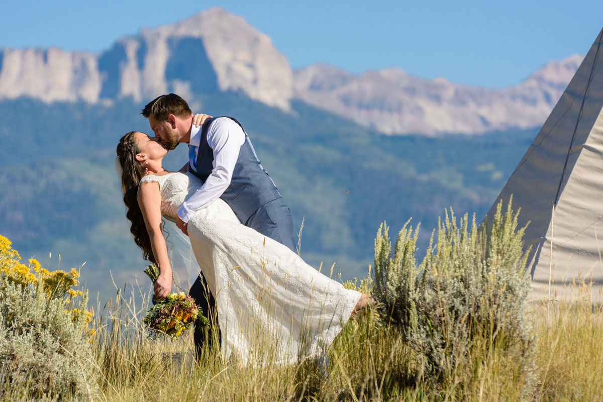 A Fall Rocky Mountain Teepee Wedding in Ouray, Colorado