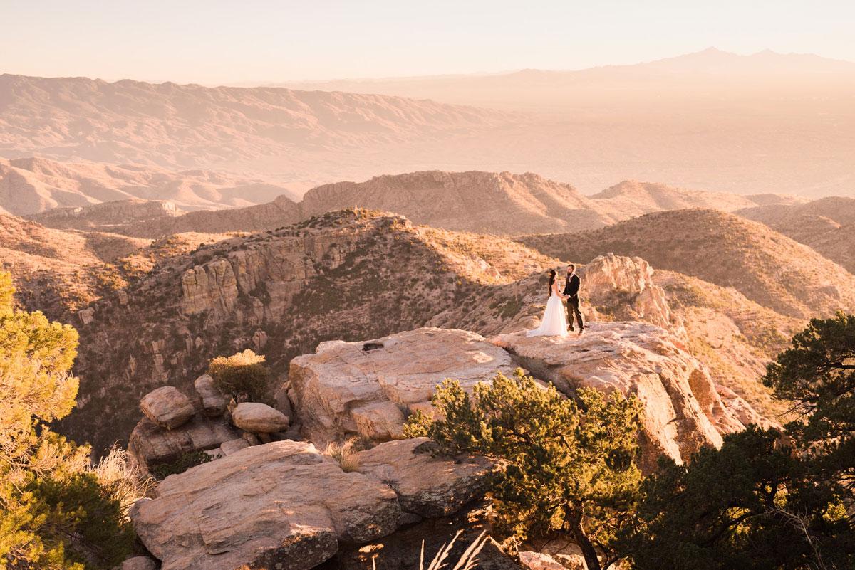 Mountain Top Elopement in Tucson