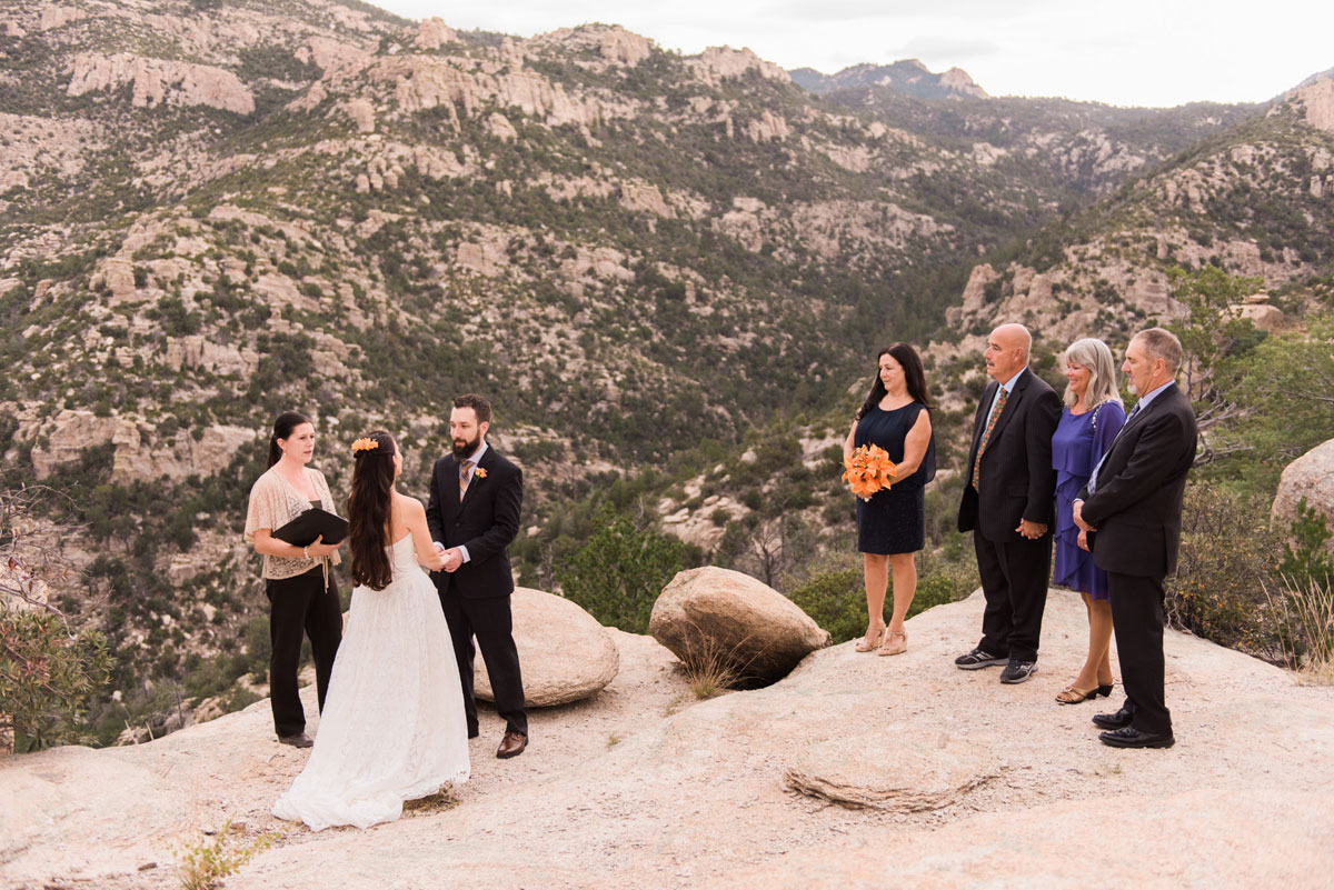 Mountain Top Elopement in Tucson, Arizona