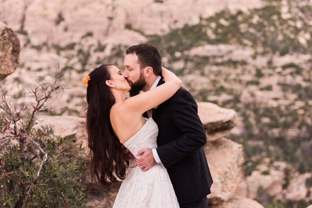 Mountain Top Elopement in Tucson, Arizona