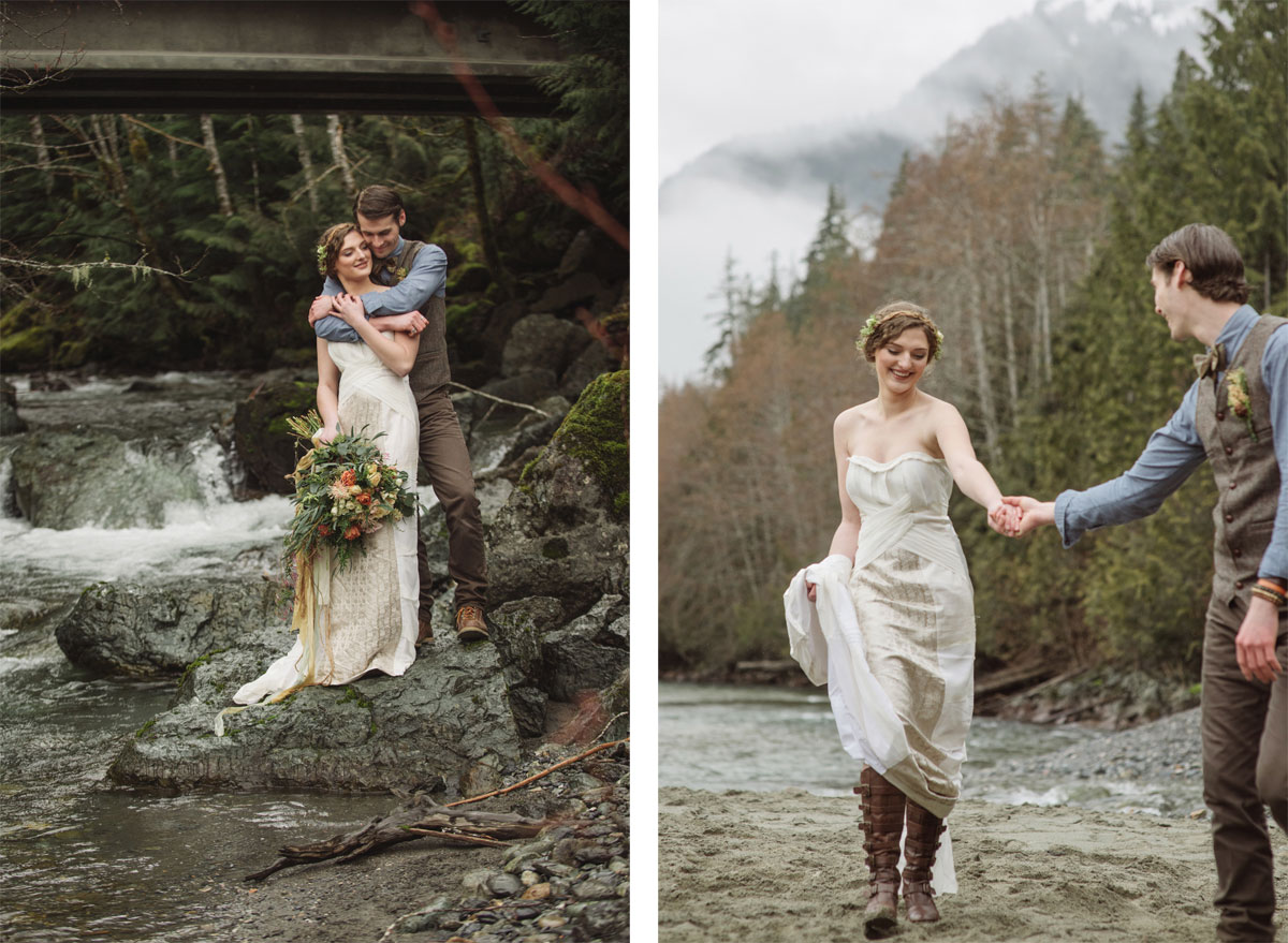 Vintage Nordic Mountain Elopement in Washington