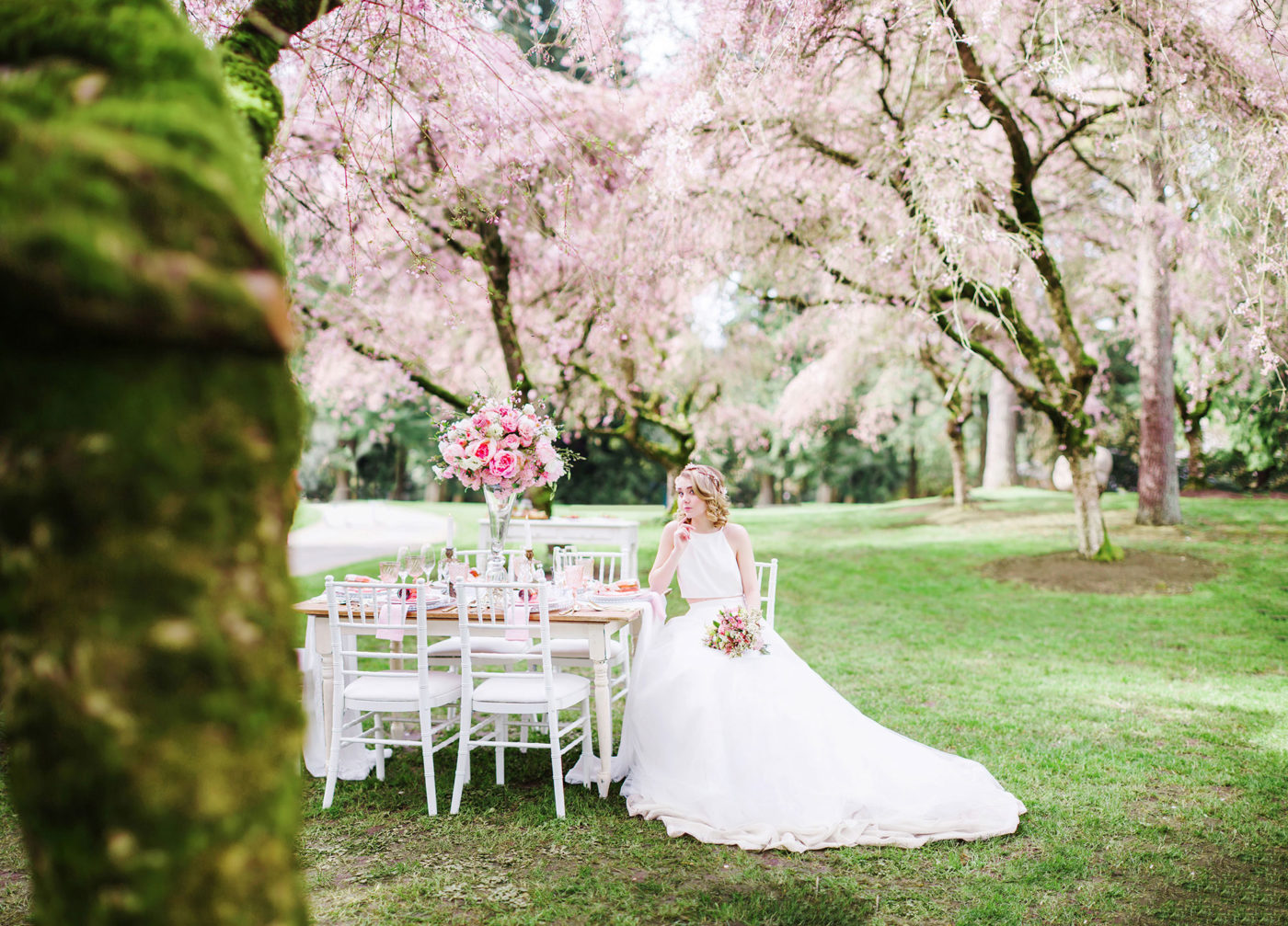 Romance under the Cherry Blossom, Canada styled shoot