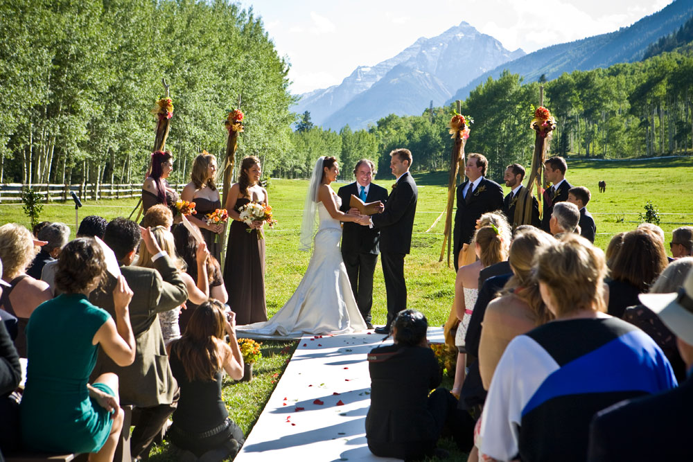 Married in the Meadow at T-Lazy-7-Ranch, Aspen, Colorado