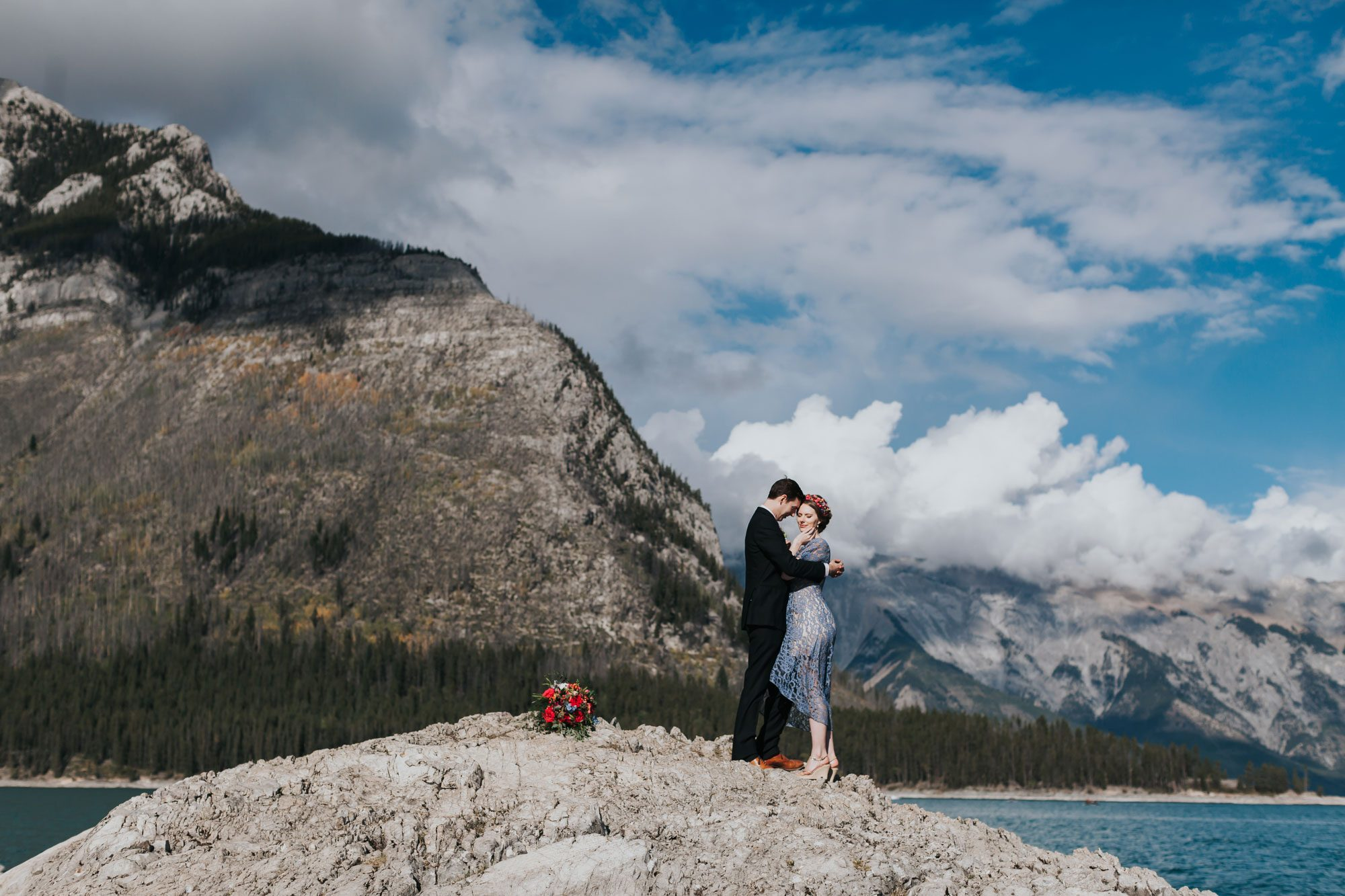 An Intimate Tunnel Mountain Reservoir Wedding in Banff, Canada