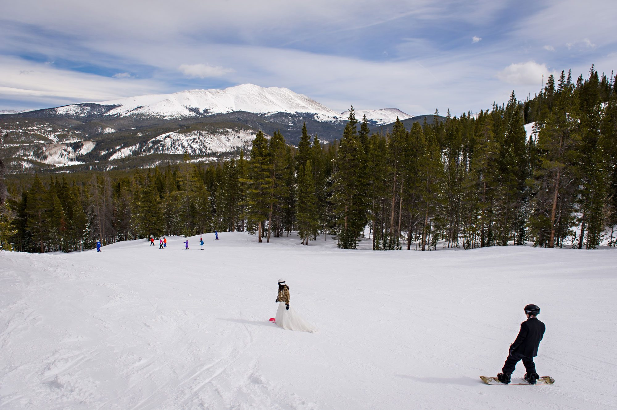 A Winter Wedding with a Snowboarding Bride & Groom in Breckenridge, CO