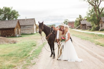 Old West Wedding Inspiration in Bannack, Montana