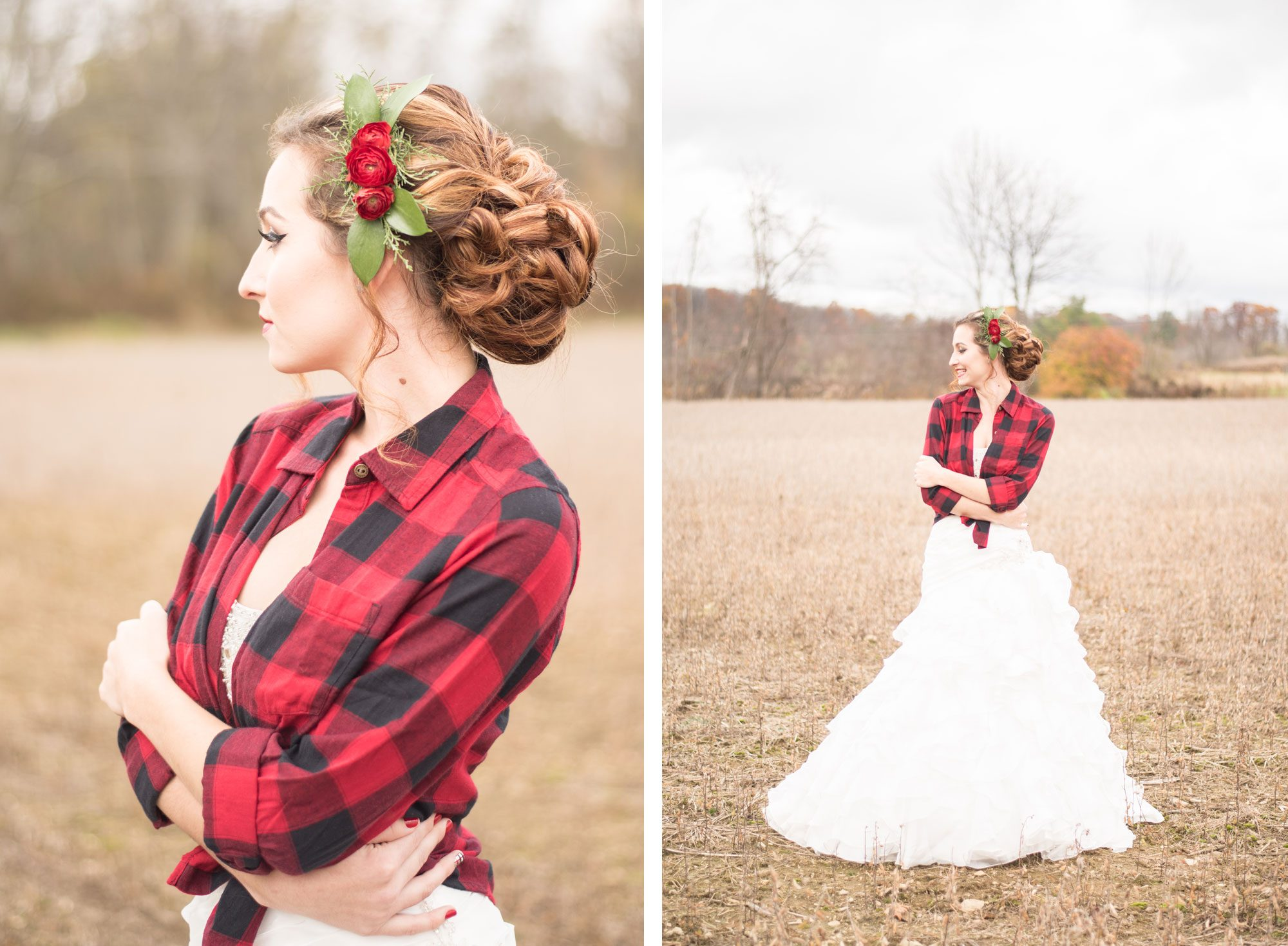 Plaid wedding
