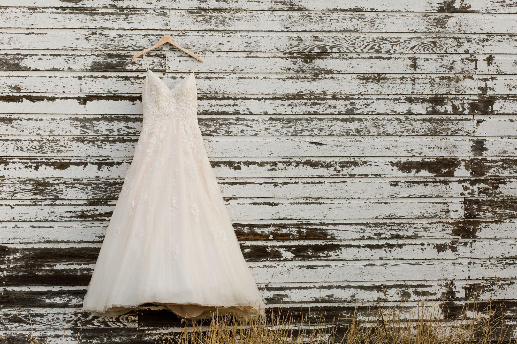 Dress - A Winter Wedding Shoot in Montana