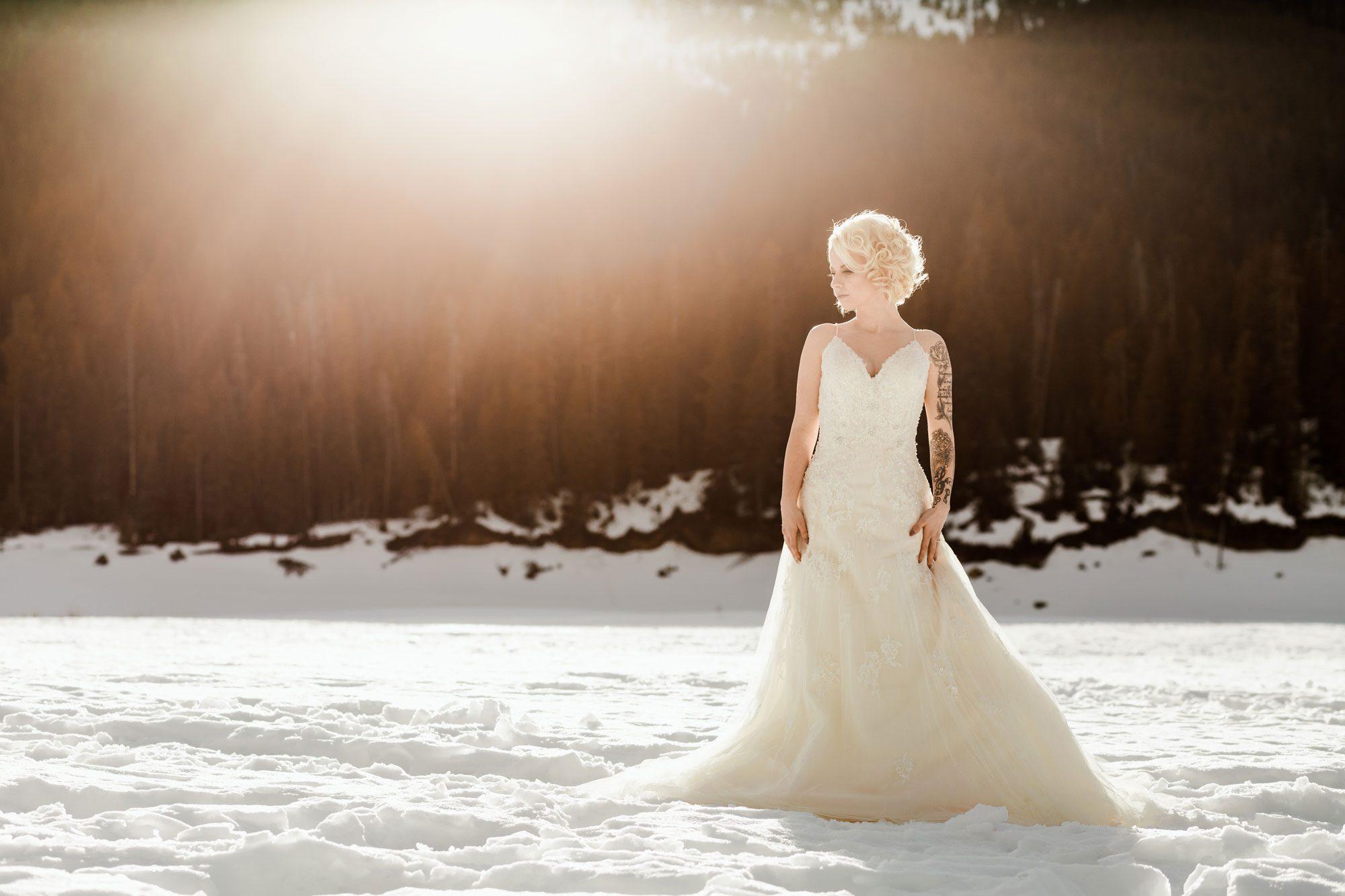 Bride - A Winter Wedding Shoot in Montana