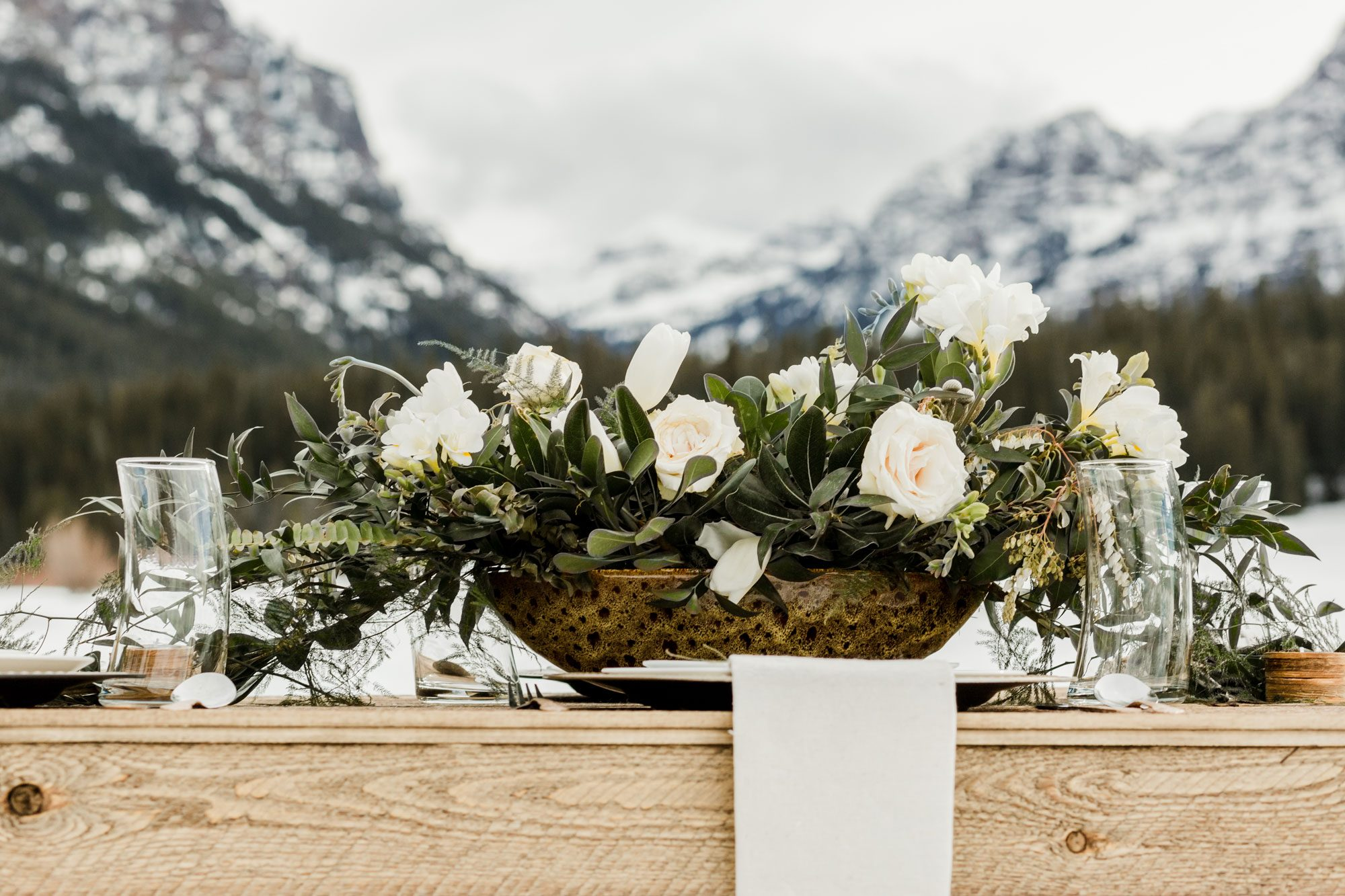 A winter centerpiece in the mountains