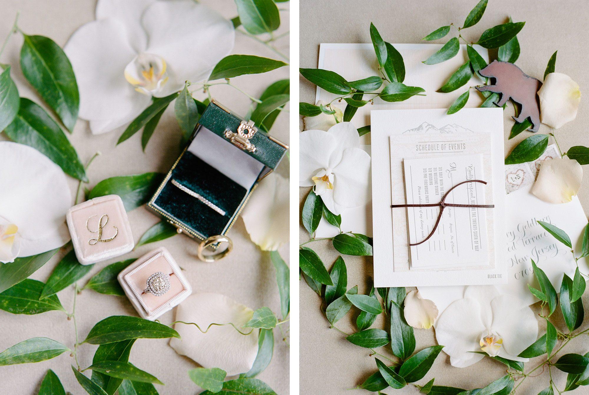 Invitation Suite - A Black Tie Rocky Mountain Destination Wedding