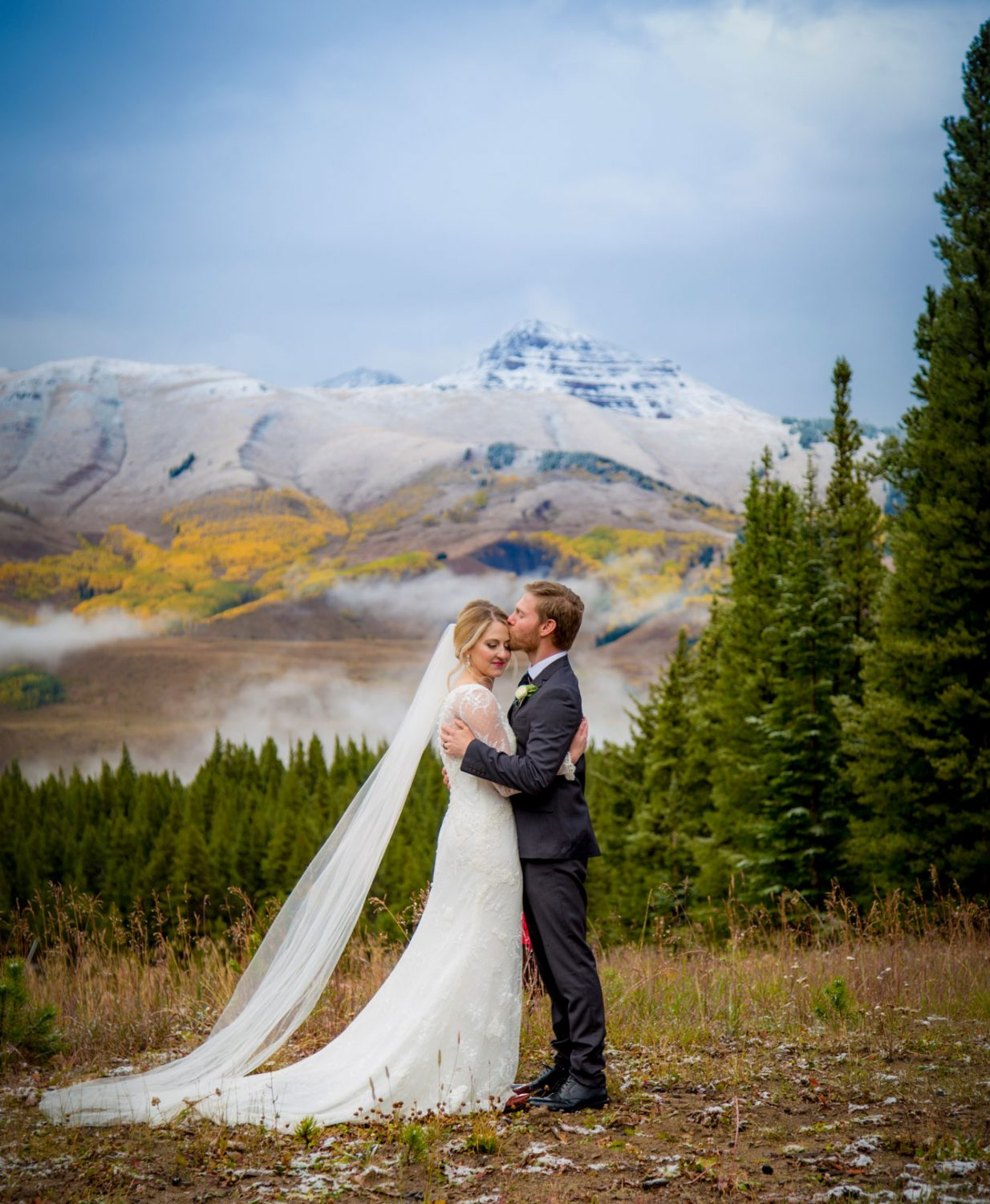 The kiss on a fall day at Crested Butte Mountain Resort, Colorado