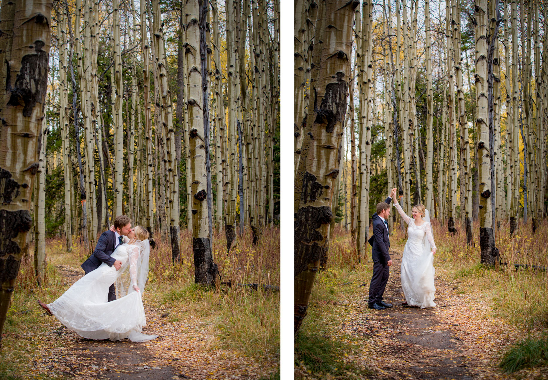 A fall wedding day at Crested Butte Mountain Resort, Colorado