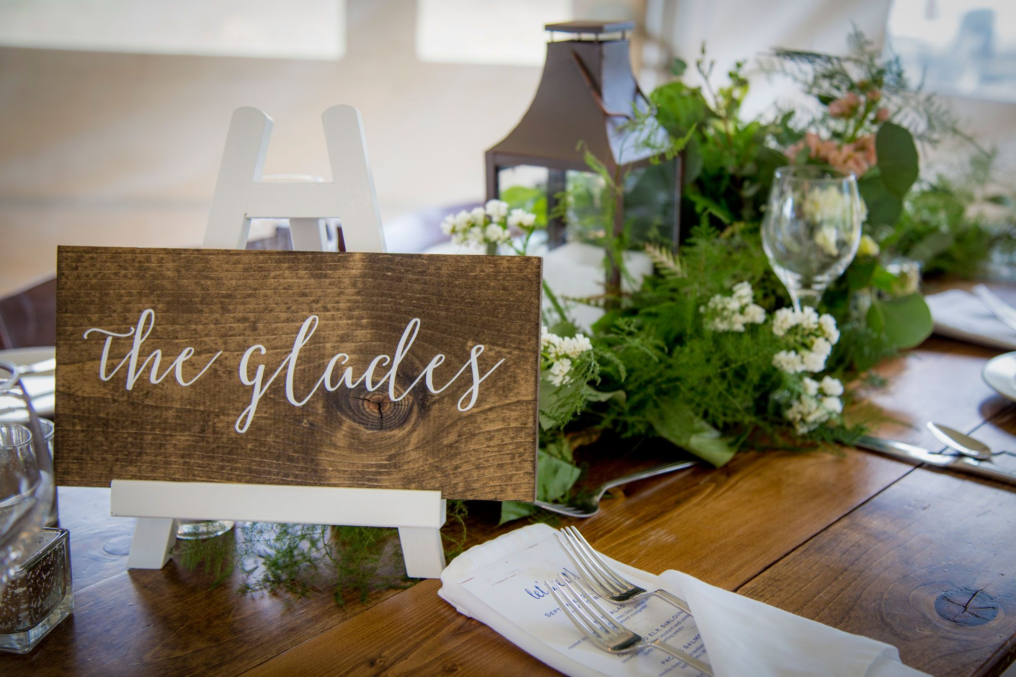 Wedding tablescape at Crested Butte Mountain Resort, Colorado