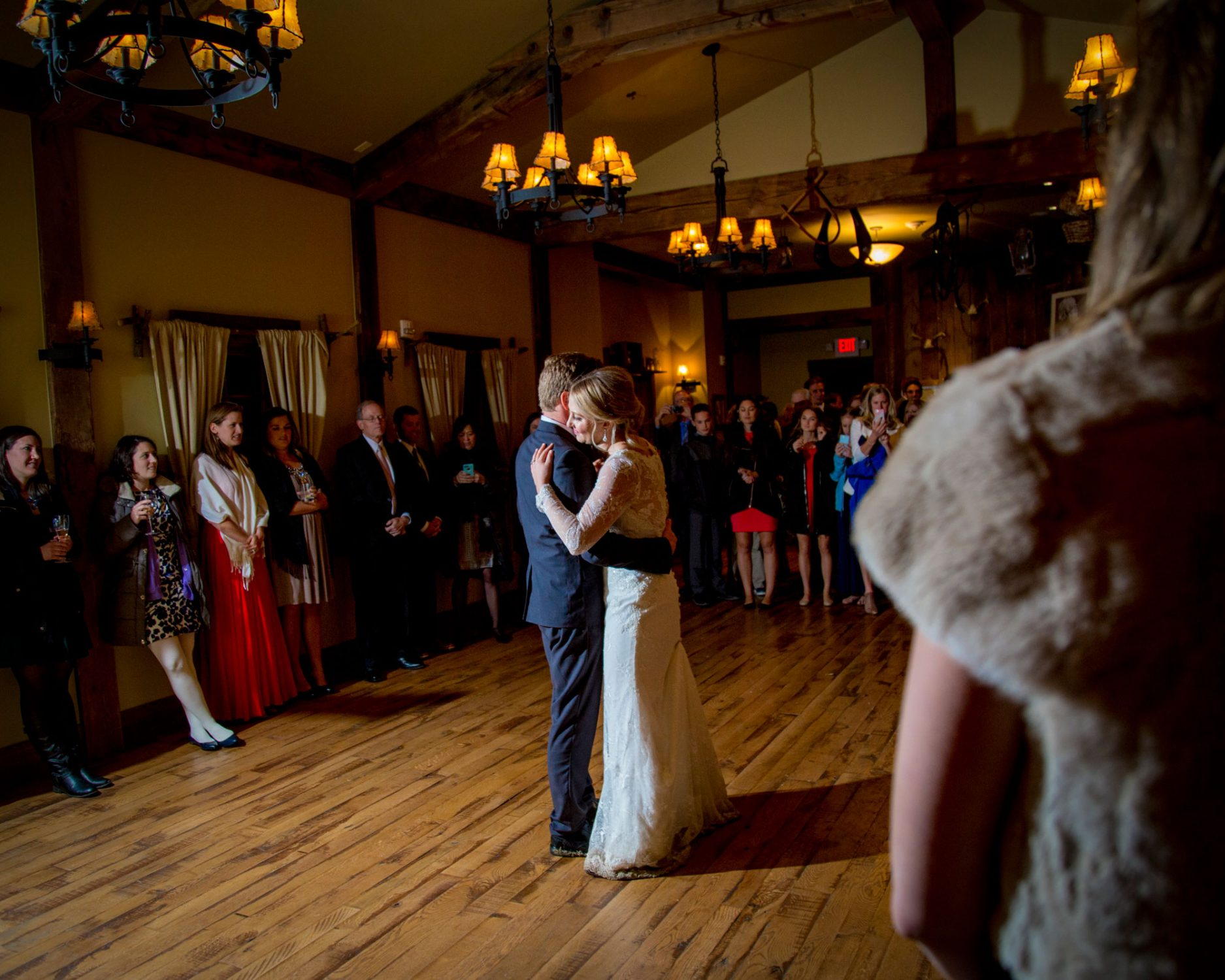 First wedding dance at Crested Butte Mountain Resort, Colorado