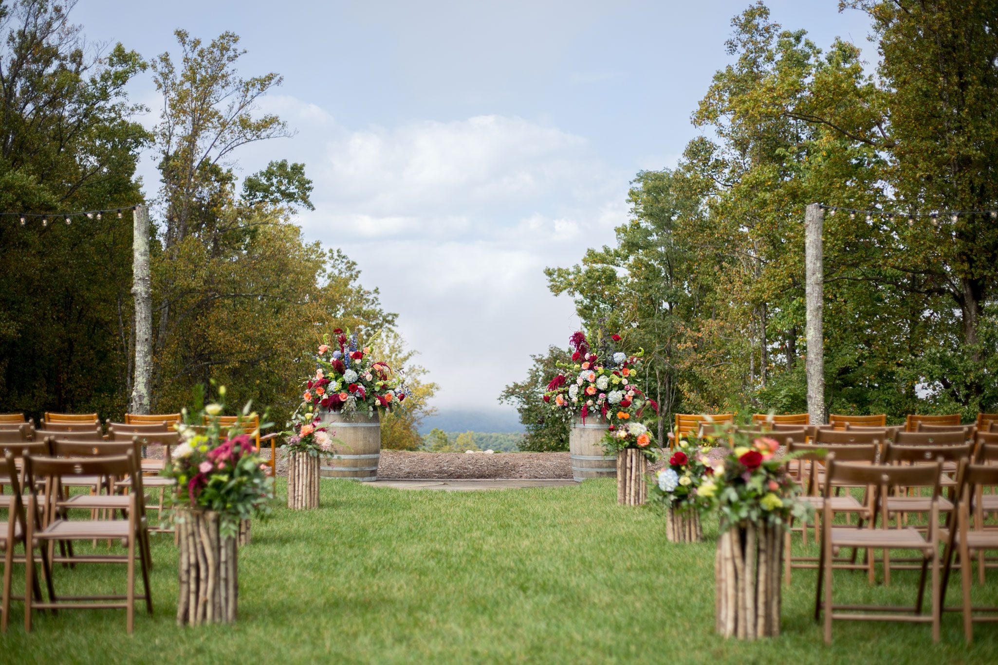 Ceremony aisle - Blue Ridge Mountain Wedding, North Carolina