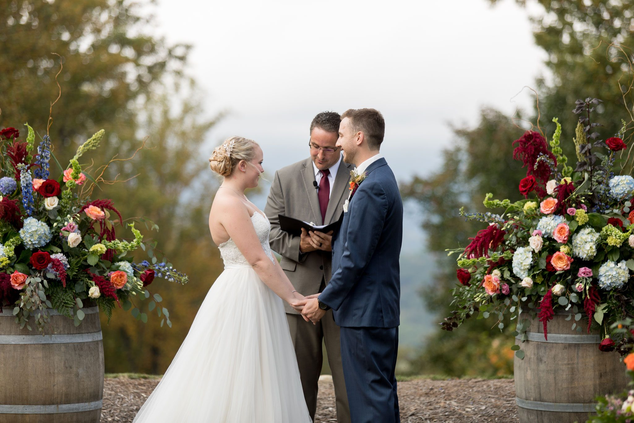 Ceremony - Blue Ridge Mountain Wedding, North Carolina