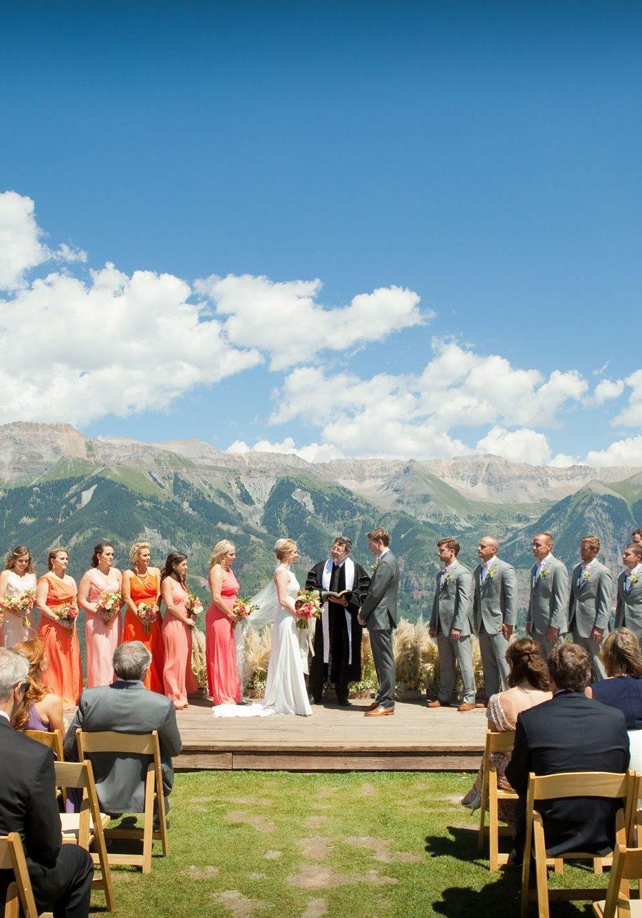 mountain wedding, Telluride wedding, destination wedding, mountaintop