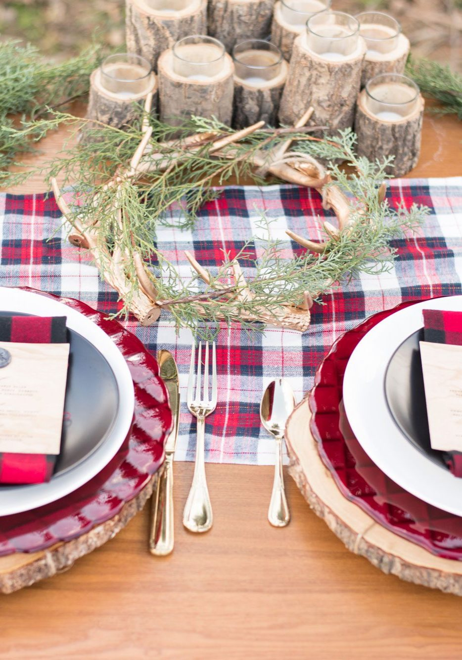 Plaid Inspiration for a Mountain Wedding in Pennsylvania
