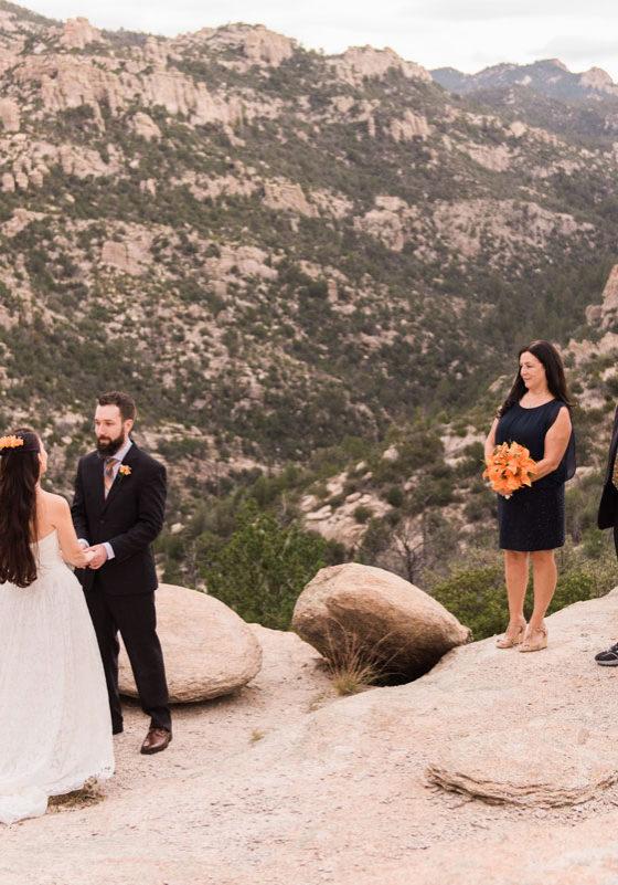 An elopement in Arizona