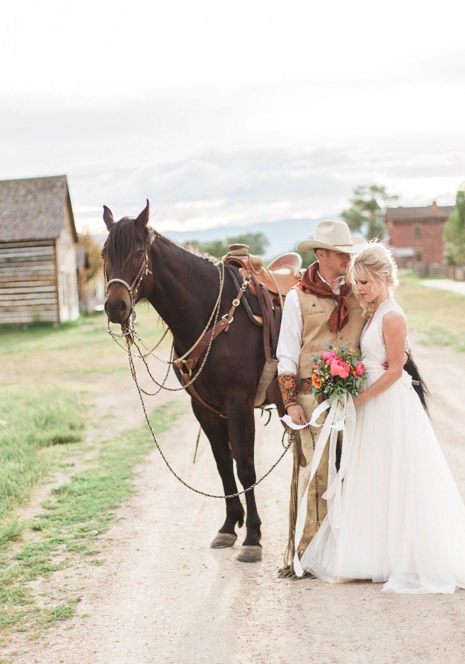 Old West Wedding Inspiration in Bannack, Montana