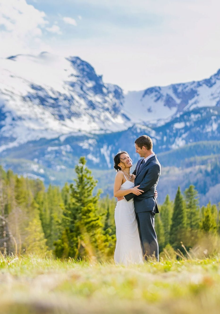 Snowy Spring Elopement in Rocky Mountain National Park
