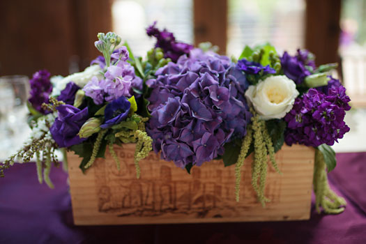 Purple Centerpiece | Wine Country Elegance in Vail