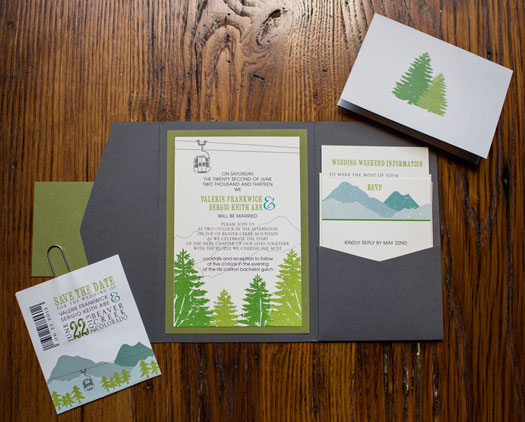 Mountain Invitations | A Destination wedding in the mountains of Beaver Creek, Colorado