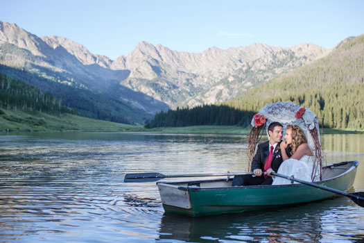 Outdoorsy, Rustic, Nature-inspired fishing wedding at Piney River Ranch, Vail Colorado