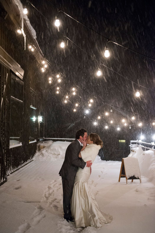 A Snowy Mountain Wedding in Colorado