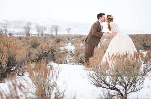 An Intimate Winter Wedding in Jackson. Wyoming