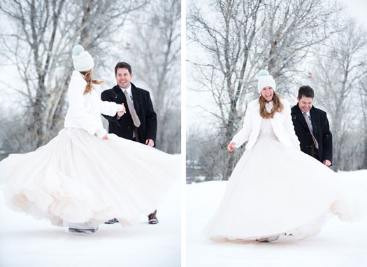 Wyoming An Intimate Winter Wedding In Jackson